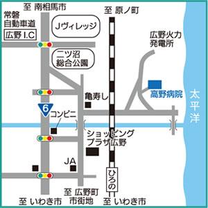 高野病院の地図